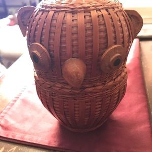 Cute Owl Small Basket
